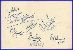 Rolling Stones Beatles Brian Jones Era Autographs Obtained by Mike McCartney