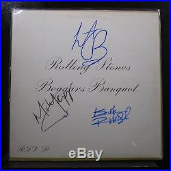 Rolling Stones Beggars Banquet LP VG+ PS 539 Signed / Autographed Vinyl Record