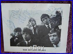 Rolling Stones Brian Jones 1964 Decca Signed/Autographed Promo Card With PSA COA