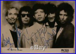 Rolling Stones Buch Pressefoto Original signiert autograph Signatur Autogramm