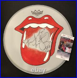 Rolling Stones Charlie Watts Signed Autographed 14 Remo Drumhead JSA COA