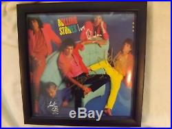 Rolling Stones Dirty Work Album Autographed By 5 Members Mick Jagger and all