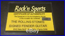 Rolling Stones Fender Guitar Autographed, Jagger-Richards-Wood & Watts