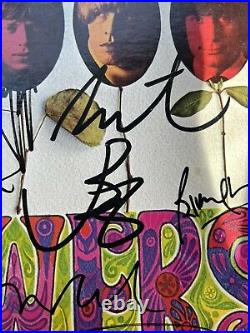 Rolling Stones Flowers LP Originally Autographed Jagger Richards Three Others