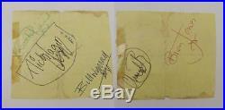 Rolling Stones Full Band Autographs Inc. Brian Jones c1960s