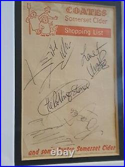 Rolling Stones Genuine Signatures/Autographs Including Brian Jones & richards