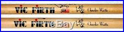 Rolling Stones Hand Signed Autographed Charlie Watts Signature Drumsticks! Proof