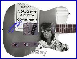 Rolling Stones Keith Richards Facsimile Autographed Guitar