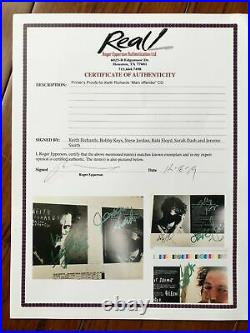 Rolling Stones Keith Richards X-pensive Winos Full Set Of Autographs Proof Art
