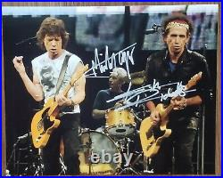Rolling Stones Mick Jagger Keith Richards org Hand Signed Autographed Photo COA