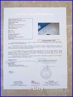 Rolling Stones Mick Jagger Signed Autographed 12x16 Tour Program JSA Certified