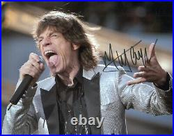 Rolling Stones, Mick Jagger Signed Autographed Photo, Coa