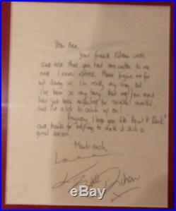 Rolling Stones Paint it Black fan club Letter and Autographs + Brian Jones