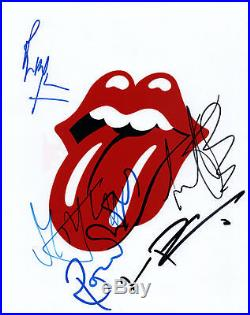 Rolling Stones Rare Autographed Signed Tongue 8x10 Photo AFTAL UACC RD COA