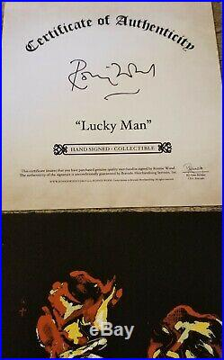 Rolling Stones Ron Wood Lucky Man 7 Signed & Numbered #272. Autographed