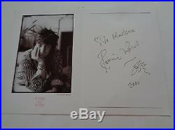 Rolling Stones Ronnie Wood Autograph 2001 Artwork Card. Very Nice