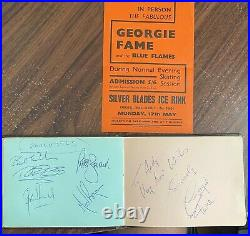 Rolling Stones Signed Autograph Book Kinks Everly Bros Georgie Fame Adam Faith
