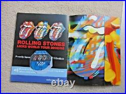 Rolling Stones Signed / Autograph Brochure-2002 with Shebeen & Signed VIP Pass