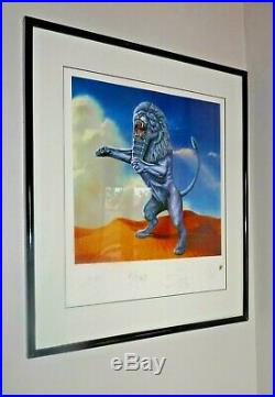 Rolling Stones Signed Autographed Bridges to Babylon 1997 Limited Edition Print