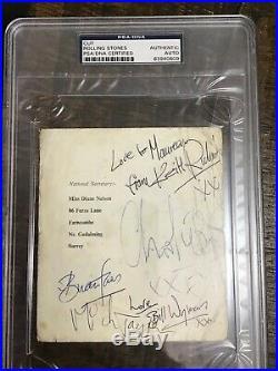 Rolling Stones Signed Autographed Fan Club Jones Richards Jagger 1963 PSA/DNA