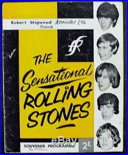 Rolling Stones Signed Autographed Program JONES Richards Jagger +2 PSA/DNA