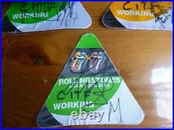Rolling Stones Signed Pass Backstage Keith Richards Mick Jagger Charlie Watts