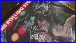 Rolling Stones Signed Tour Book Autograph (5) Jagger Richards Wood Wyman Watts