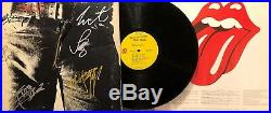 Rolling Stones Sticky Fingers LP Originally Autographed By 5 Members Mick Jagger