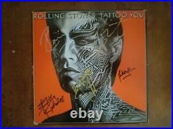 Rolling Stones Tattoo You Lp Signed Autograph by Artists