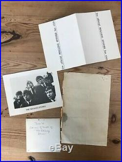 Rolling Stones Vintage 1960s Group Lot Including Handwritten Signed Letter