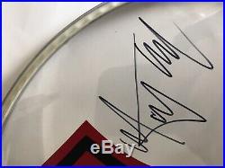 Rolling Stones autographed Drum Head, Classic Lineup! Great R&R Memorabilia