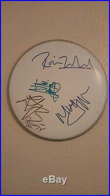 Rolling Stones autographed Drum Head Mick Jagger Keith Richards Signed Band