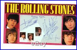 Rolling Stones+original Autographs+