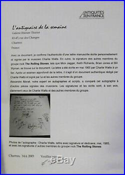 Rolling Stones signed incl. Brian Jones Autograph Autogramm COA Rare authentic