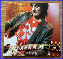 Ronnie Wood Anthology Signed CD Lp Rolling Stones Uacc Rd