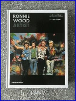 Ronnie Wood Artist signed edition hard back book Rolling Stones Thames Hudson