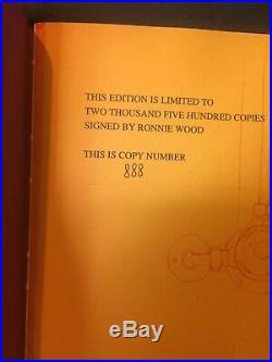 Ronnie Wood On Canvas Signed Book Genesis Publications Rolling Stones The Faces