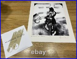 Ronnie Wood SIGNED Dressing Room Art Print Numbered 38/200 The Rolling Stones