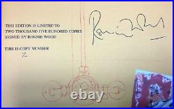 Ronnie Wood SIGNED Genesis Wood On Canvas. Rolling Stones Autographed No. 2