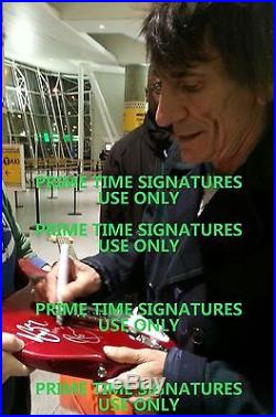 Ronnie Wood Signed Autograph Full Size Electric Guitar The Rolling Stones Psa