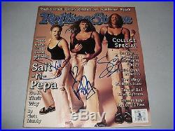 SALT-N-PEPA signed autographed ROLLING STONE MAGAZINE BECKETT LOA! (BAS)