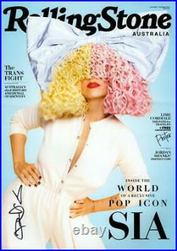 SIA SIGNED AUTOGRAPH ROLLING STONE 11x17 POSTER PHOTO PRINT THIS IS ACTING