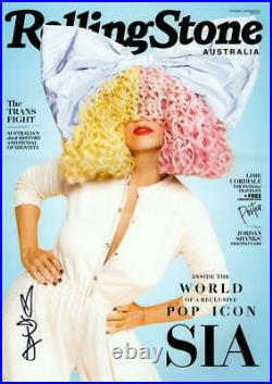 SIA SIGNED AUTOGRAPH ROLLING STONE COVER 11x17 POSTER PHOTO PRINT B VERY RARE