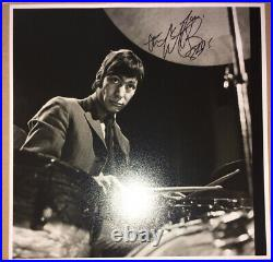 SIGNED CHARLIE WATTS THE ROLLING STONES 12x12 PHOTO RARE JAGGER RICHARDS