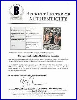 SMASHING PUMPKINS signed autographed ROLLING STONE MAGAZINE BECKETT LOA (BAS)