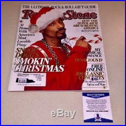 SNOOP DOGGY DOGG signed autographed ROLLING STONE MAGAZINE BECKETT BAS COA