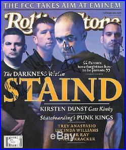 STAIND Aaron Lewis +3 Signed Autographed ROLLING STONE Magazine JSA #P84585