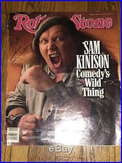Sam Kinison signed Rolling Stone Magazine autographed DSC