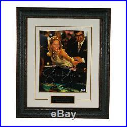 Sharon Stone signed Casino 11x14 Photo Leather Framed Rolling Dice- PSA Holo