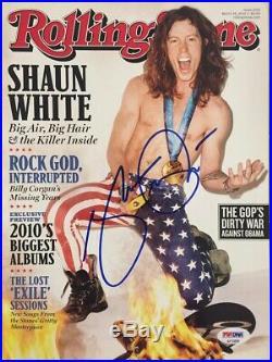 Shaun White Signed Autographed Rolling Stone Magazine Olympics PSA/DNA COA